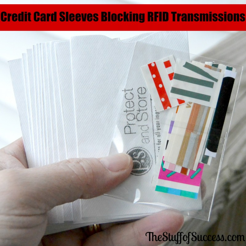 Credit Card Sleeves Blocking RFID Transmissions Giveaway Exp 5/23