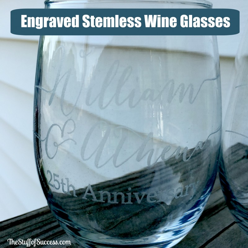 Engraved Stemless Wine Glasses Giveaway Exp 6/1