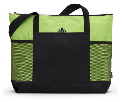 Gemline Select Zippered Tote – Apple Green