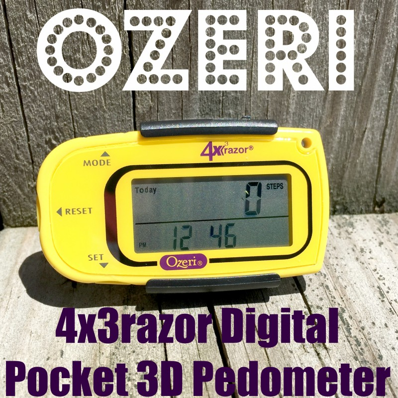 Ozeri 4x3razor Digital Pocket 3D Pedometer