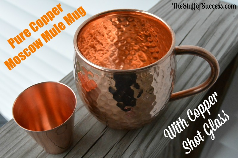 Pure Copper Moscow Mule Mug with Copper Shot Glass