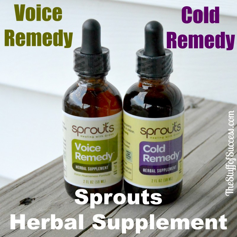 Sprouts Herbal Supplement Voice Remedy and Cold Remedy