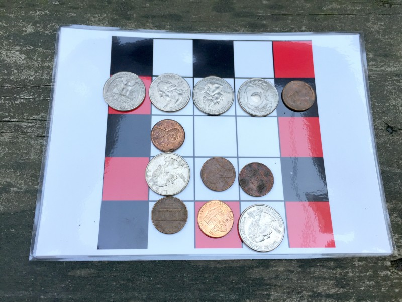 Tic Tac Toe Its Four In A Row Played With Coins