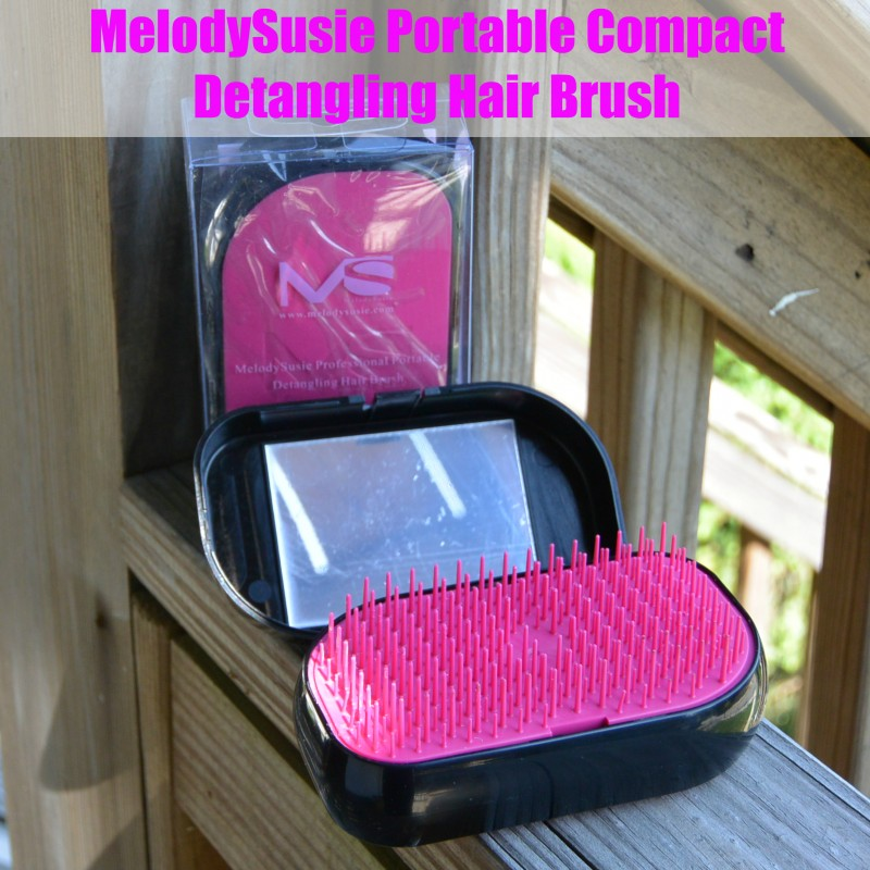 MelodySusie Portable Compact Detangling Hair Brush