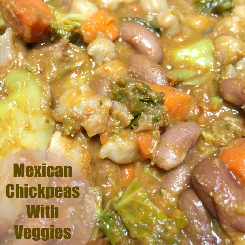 Mexican Chickpeas With Veggies