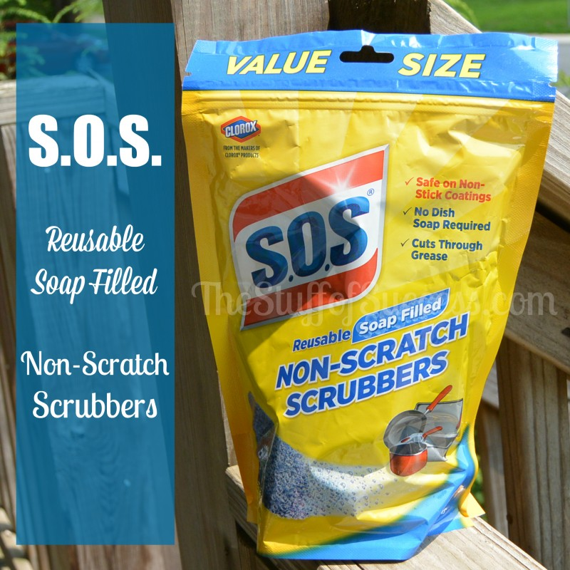 SOS Reusable Soap Filled Non Scratch Scrubbers