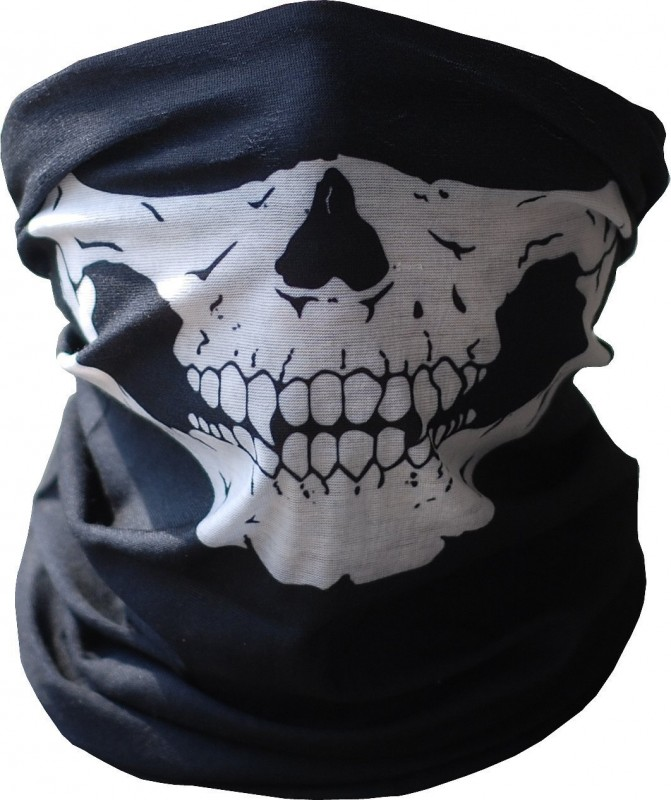 Skull Tube Face Mask Motorcycle Tubular Skeleton Biker Snowboard Neck Gaiter Stretchable Wind Bugs Dust Shield Snowmobile