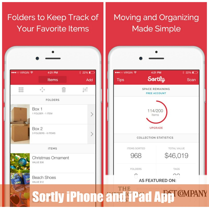 Sortly iphone and ipad app