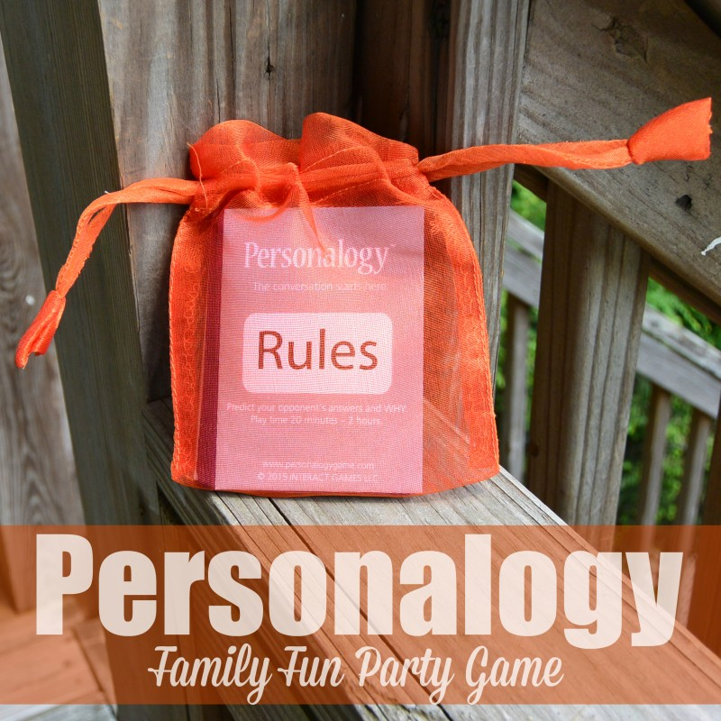 Personalogy Family Fun Party Game