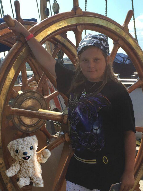 Snuggle Bear on the Coast Guard Eagle