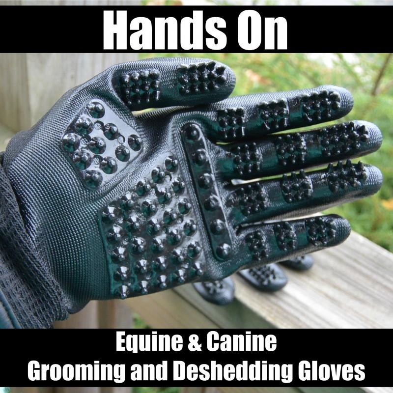 HandsOn Gloves - Equine & Canine Grooming and Deshedding Gloves
