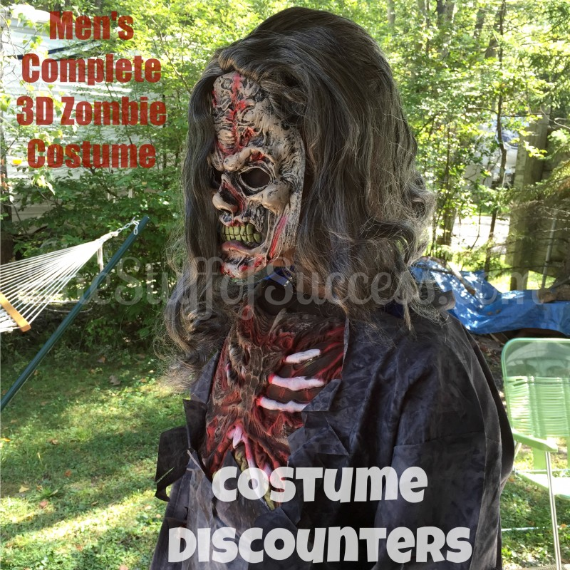 Mens' Complete 3D Zombie Costume by Costume Discounters