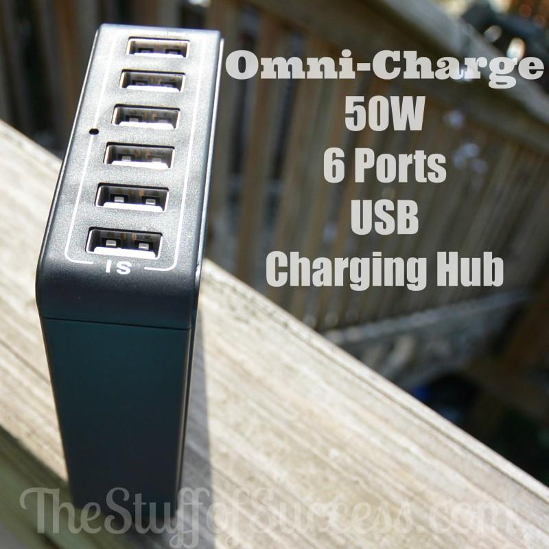 Omni-Charge - 50W 6 Ports USB Charging Hub