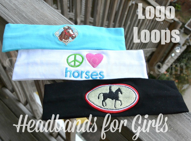 logo loops headbands for girls