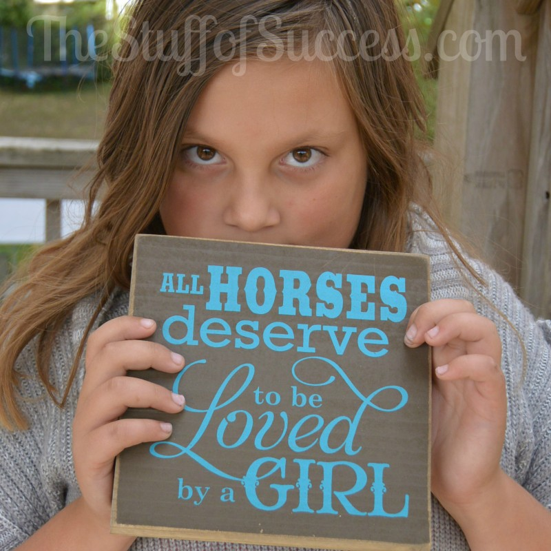 All Horses Deserve To Be Loved By A Girl Wooden Sign