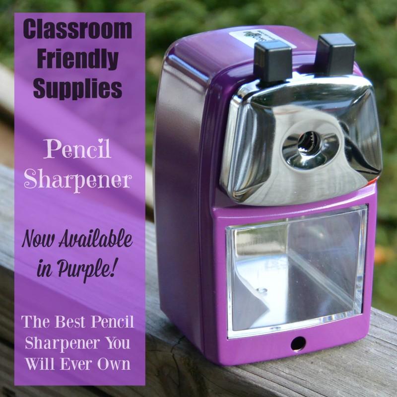 Classroom Friendly Supplies Pencil Sharpener Now In Purple
