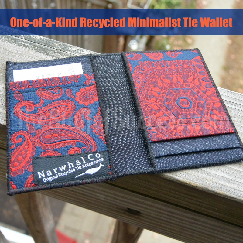 One-of-a-Kind Recycled Minimalist Tie Wallet