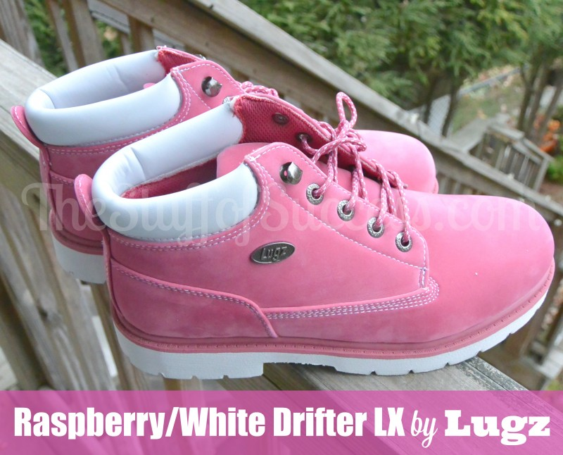 Raspberry and White Drifter LX by Lugz