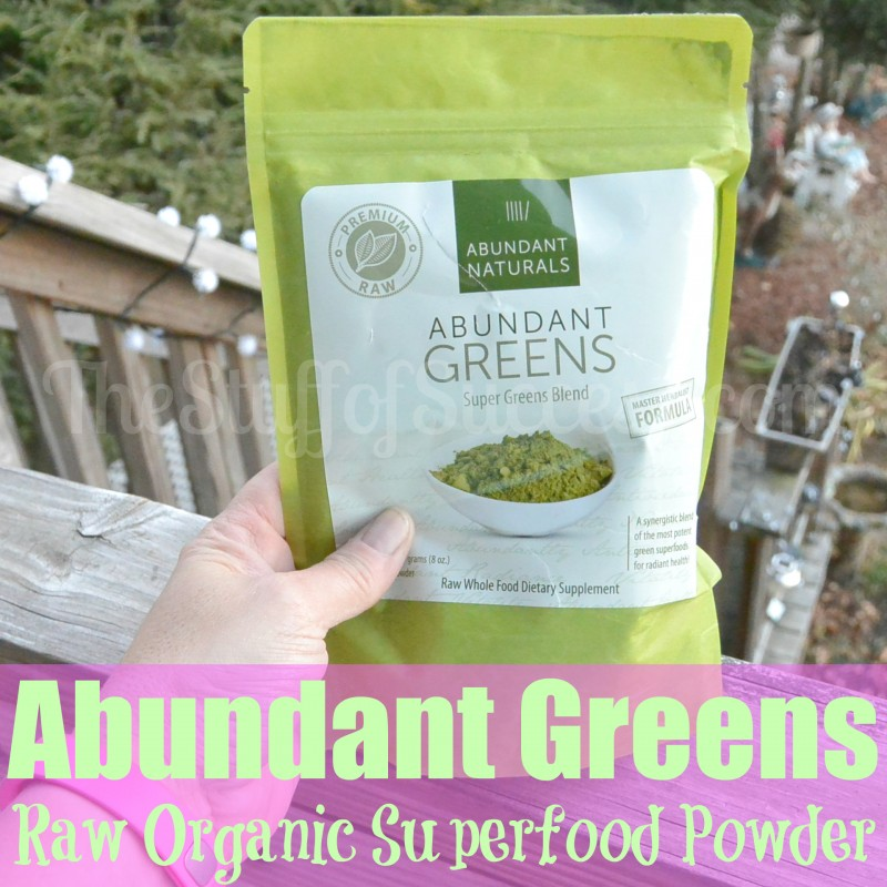 Abundant Greens - Raw Organic Superfood Powder