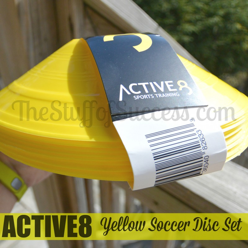 Active 8 Yellow Soccer Disc Set