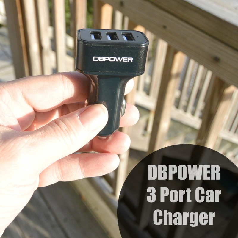 DBPOWER 3 Port Car Charger
