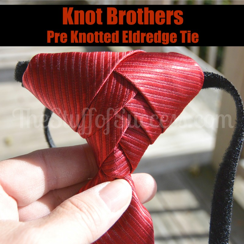 Knot Brothers Red Pre Knotted Eldredge Tie