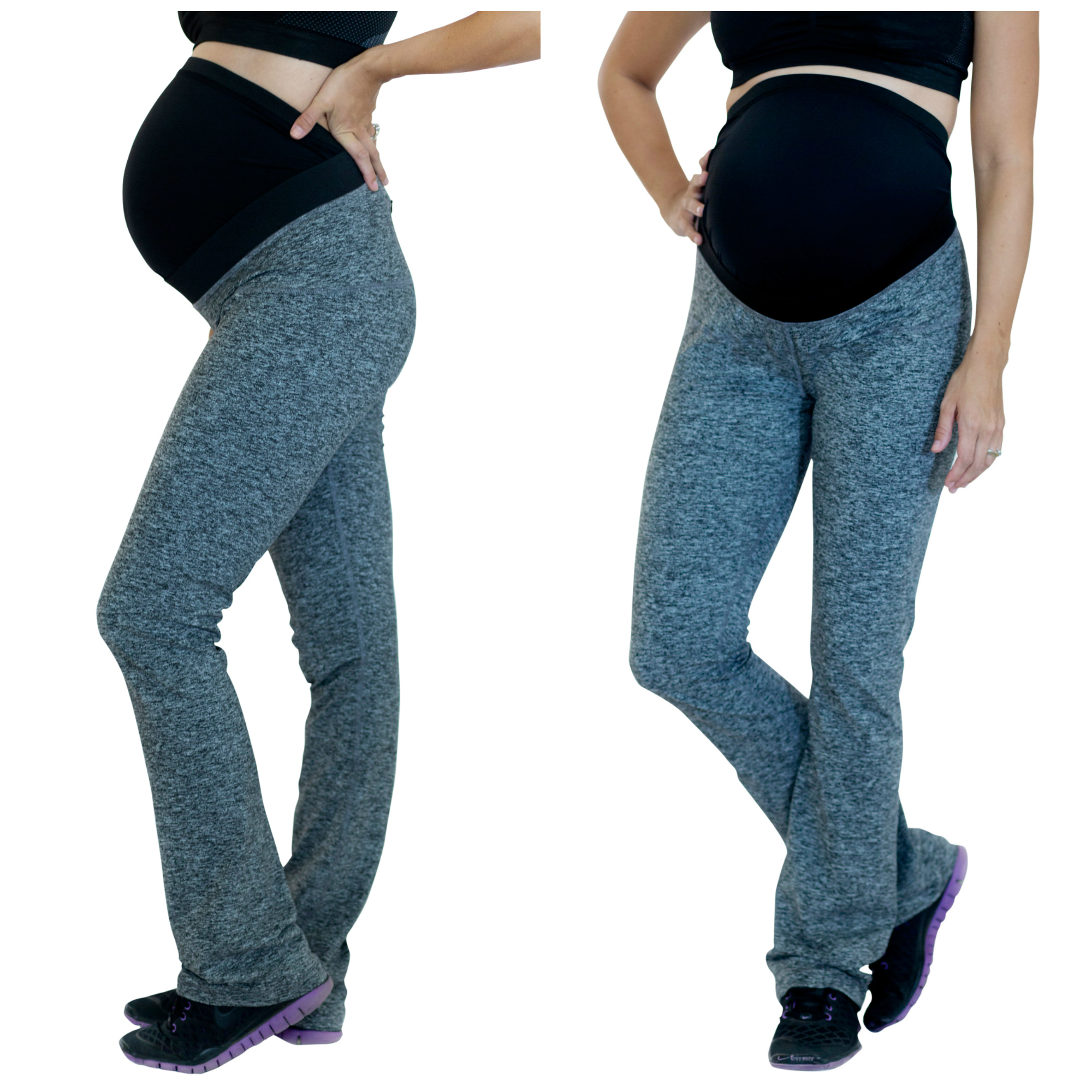 Mumberry Maternity Yoga Pants With Belly Support Band