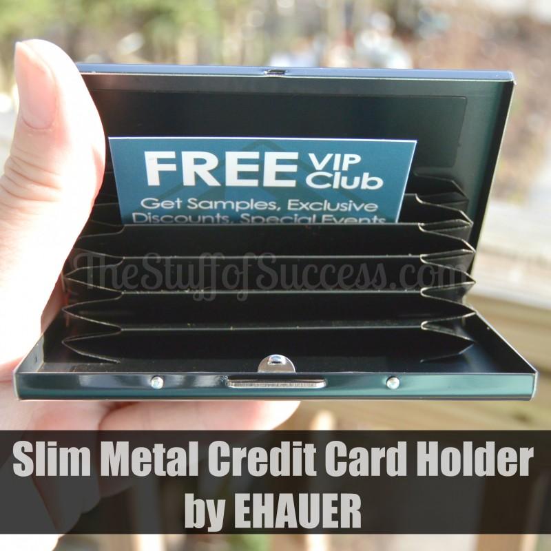 Slim Metal Credit Card Holder by EHAUER