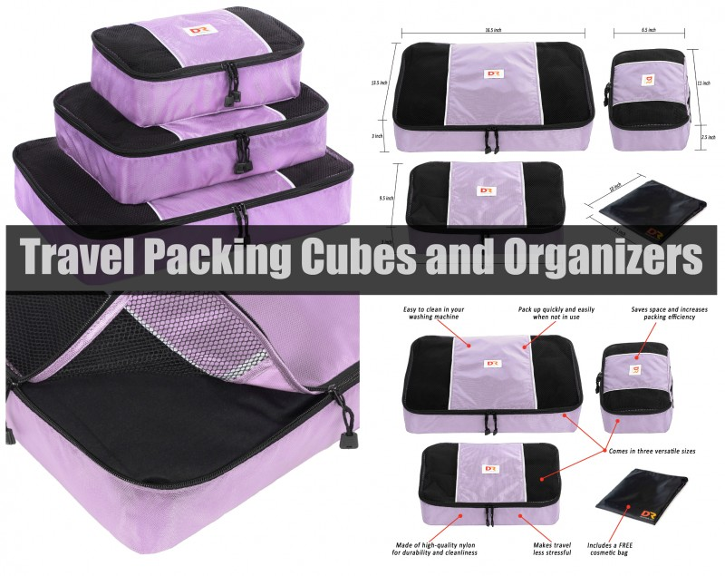 Travel Packing Cubes and Organizers