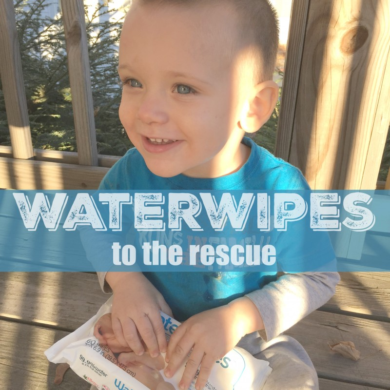 Waterwipes to the rescue