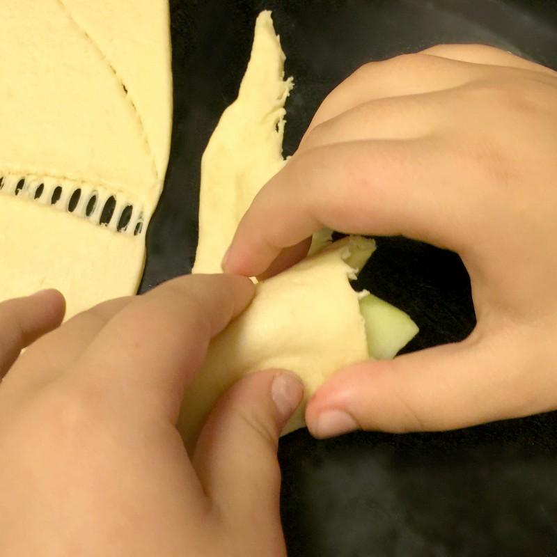 Wrapping Apple Dumplings
