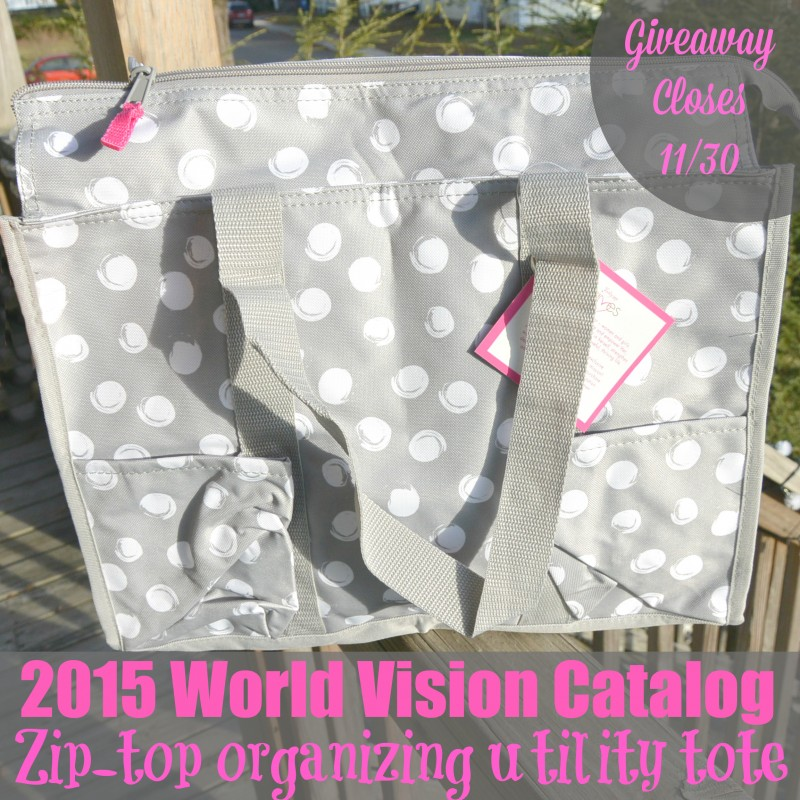 Zip Top Organizing Utility Tote World Vision Catalog 2015