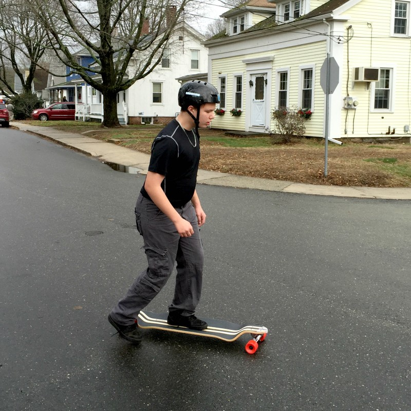 Anthony and longboard