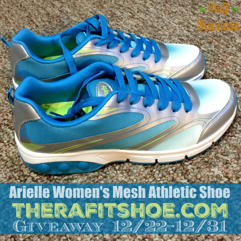 Arielle Womens Mesh Athletic Shoe Therafitshoe.com Giveaway Exp 1231