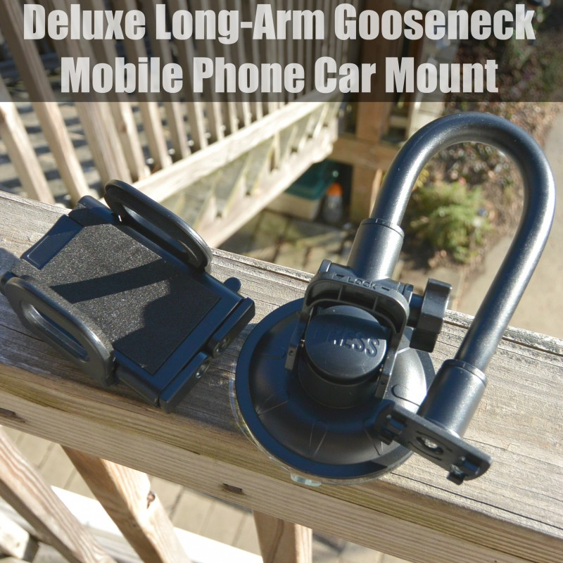 Deluxe Long-Arm Gooseneck Mobile Phone Car Mount