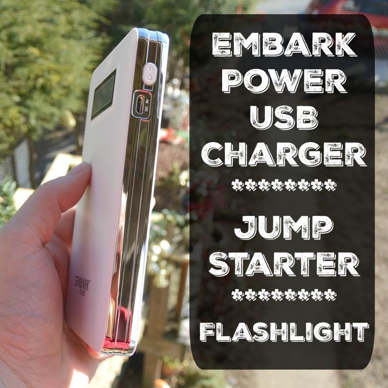 Embark Power USB ChargerJump StarterFlashlight