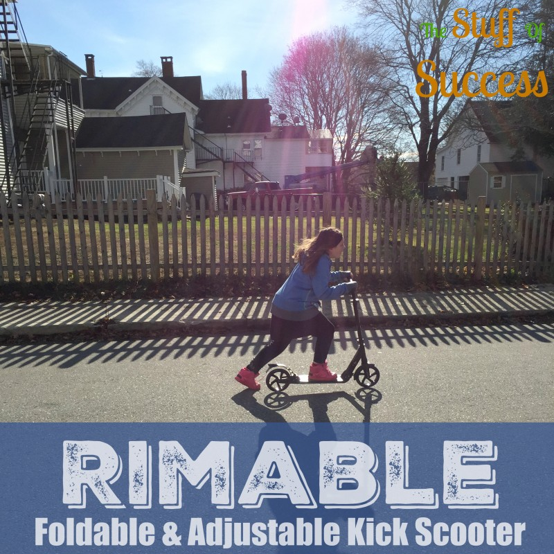 Rimable Foldable & Adjustable Kick Scooter