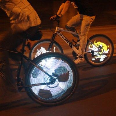 YQ8008 216pcs LED Programmable Bicycle Spoke Light DIY