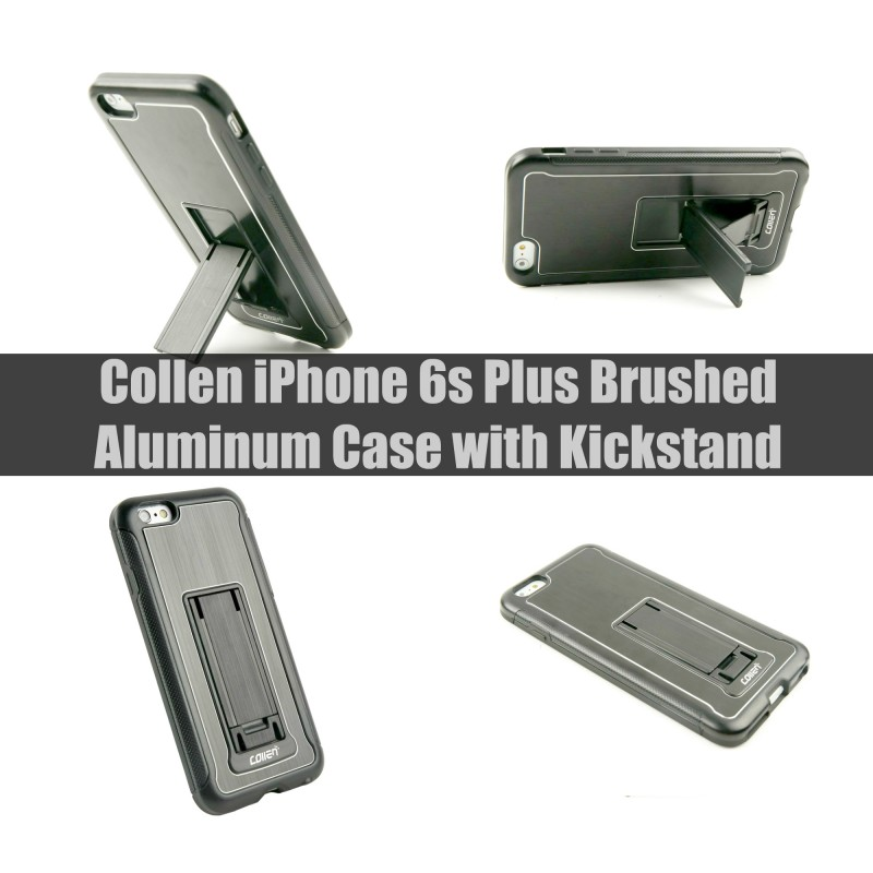 Collen iPhone 6s Plus Brushed Aluminum Case with Kickstand