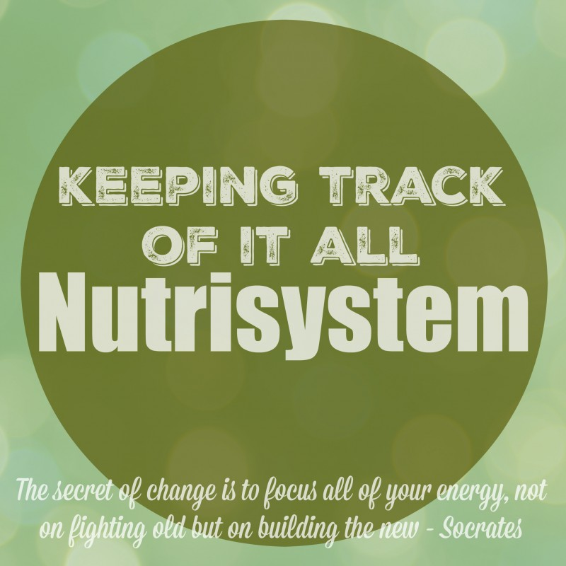 Keeping Track of it all on Nutrisystem