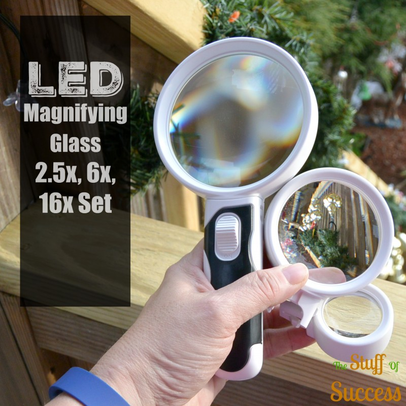 LED Magnifying Glass 2.5x, 6x, 16x Set