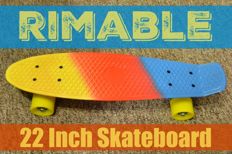 Rimable 22 inch skateboard
