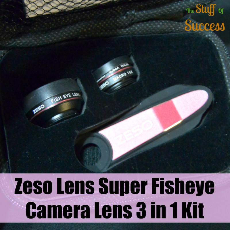 Zeso Lens Super Fisheye Camera Lens 3 in 1 Kit