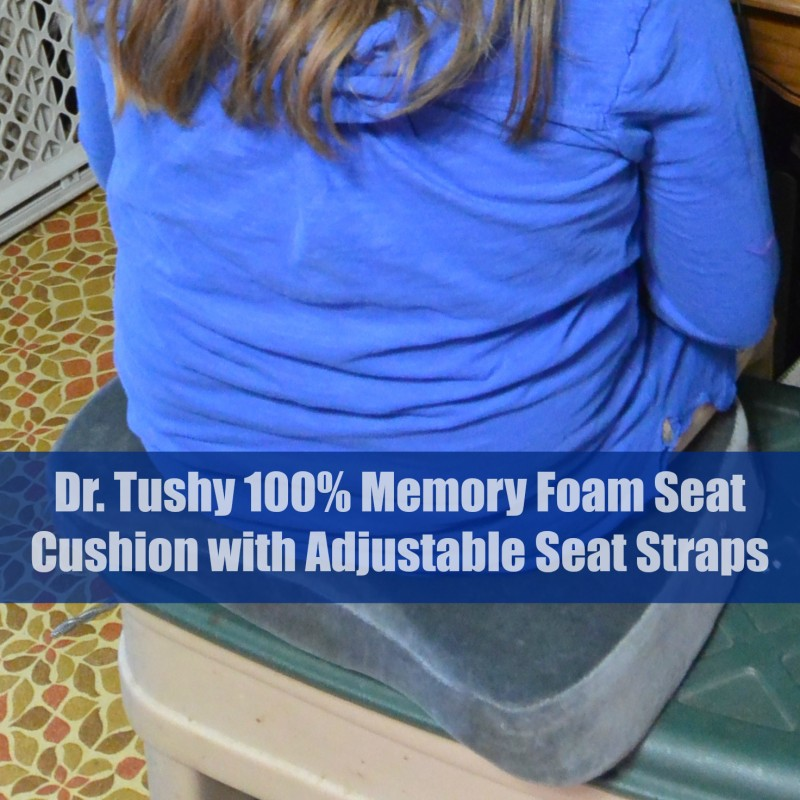 Dr. Tushy 100 Memory Foam Seat Cushion with Adjustable Seat Straps