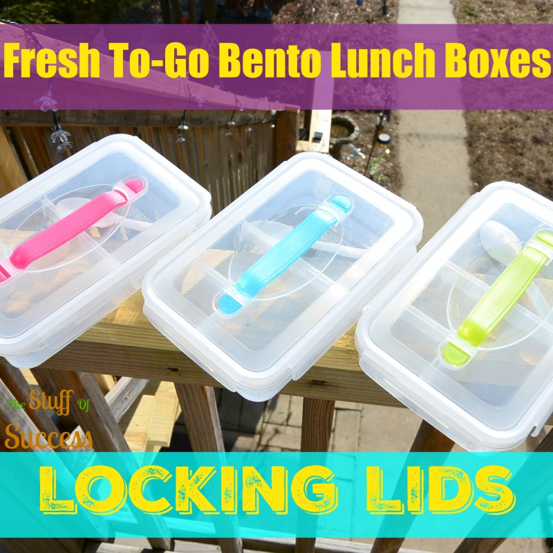 Fresh To-Go Bento Lunch Boxes with Locking Lid