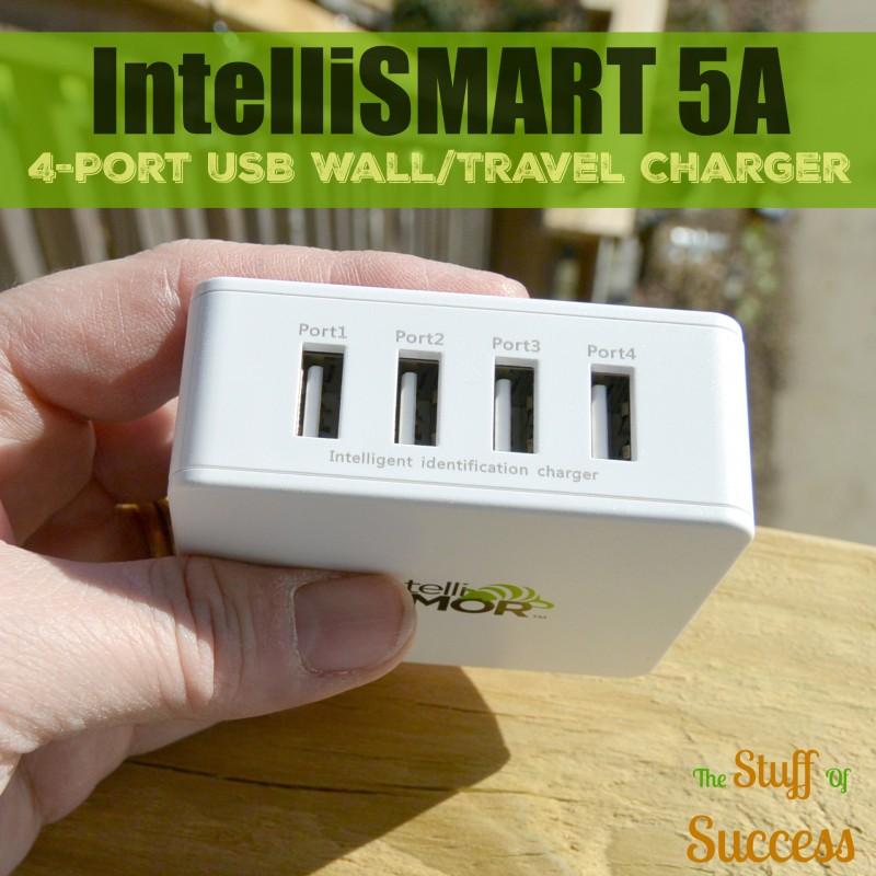 IntelliSMART 5A 4-Port USB WallTravel Charger