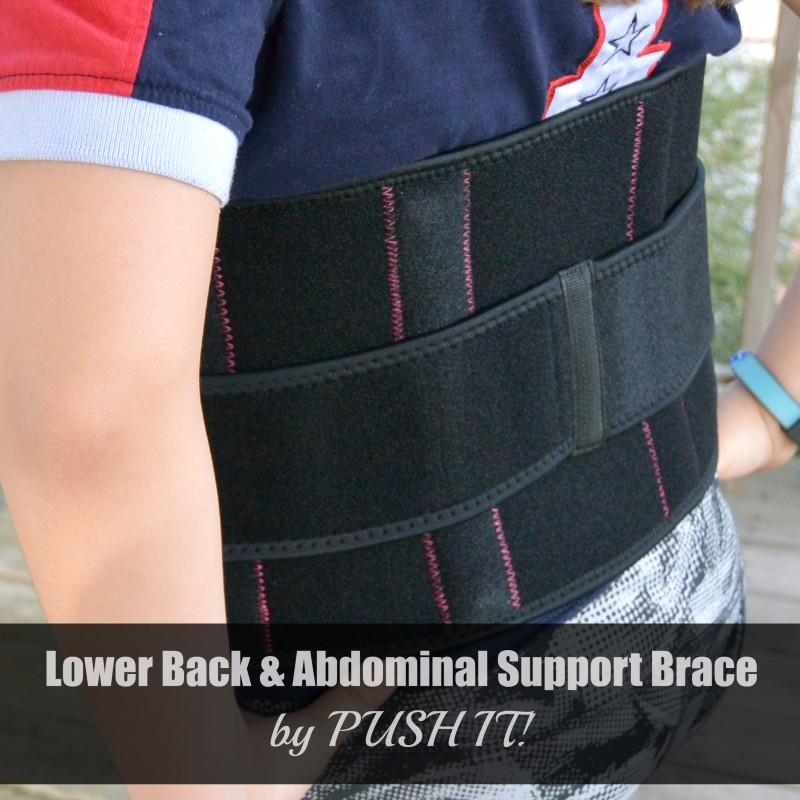 Lower Back and Abdominal Support Brace by PUSH IT!