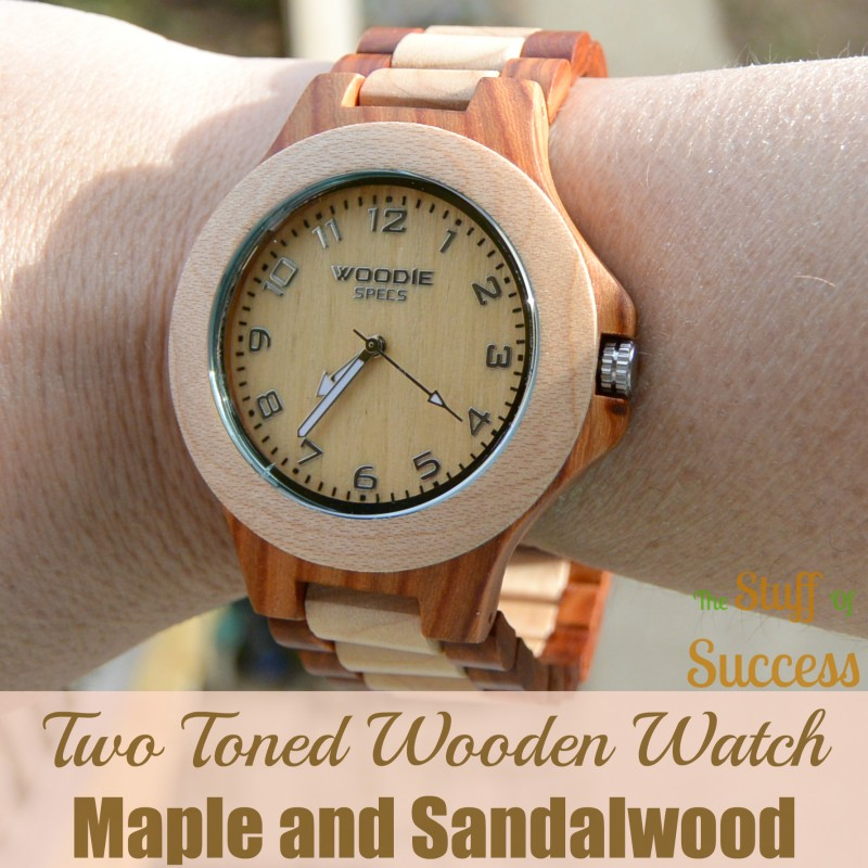 Two Toned Wooden Watch w Maple and Sandalwood