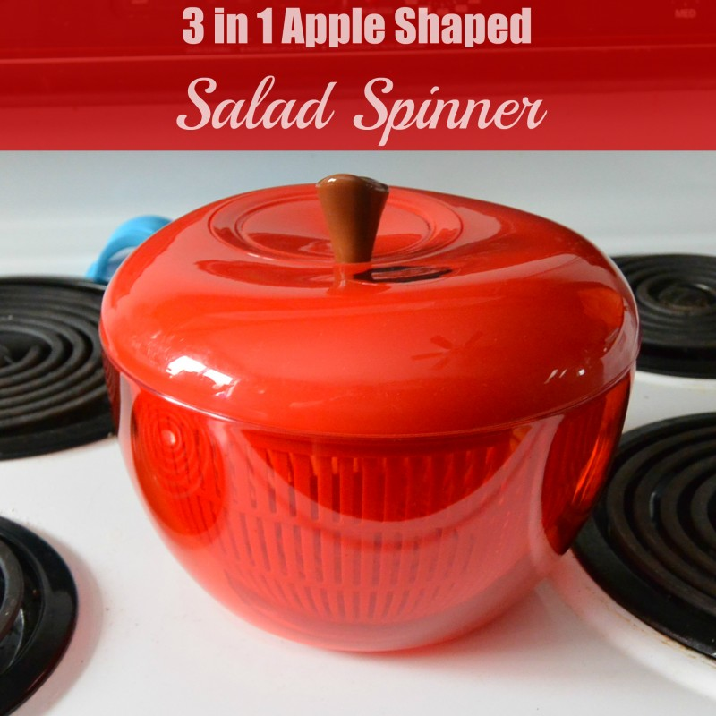 3 in 1 Apple Shaped Salad Spinner