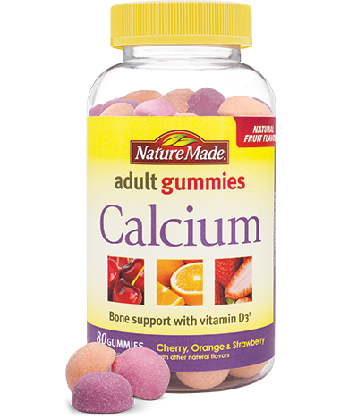 Nature Made Calcium Adult Gummies Nature Made Adult Gummies are perfect for adults who want a tastier, more enjoyable way to take vitamins and supplements.
